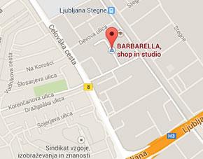 barbarella zemljevid
